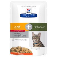 Hills Prescription Diet CD Urinary Stress Plus Metabolic Wet Food Pouches for Cats big image