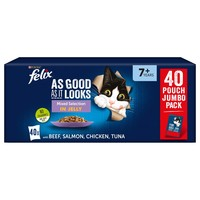 Felix As Good As It Looks Senior Cat Food in Jelly (Mixed Selection) big image