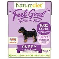 Naturediet Feel Good Wet Food for Puppies (Chicken & Lamb) big image