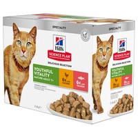 Hills Science Plan Youthful Vitality 7+ Wet Food Pouches for Adult Cats big image