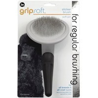 JW Gripsoft Soft Pin Slicker Brush for Dogs big image