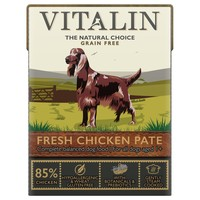 Vitalin Grain Free Adult Wet Dog Food Pate (85% Fresh Chicken) big image