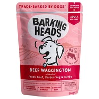 Barking Heads Adult Wet Dog Food Pouches (Beef Waggington) big image