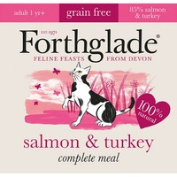Forthglade Complete Meal Grain Free Cat Food (Salmon & Turkey) 12 x 90g big image