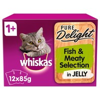Whiskas 1+ Pure Delight Fish & Meaty Selection in Jelly Cat Pouches big image