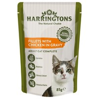 Harringtons Complete Wet Food Pouches for Adult Cats (Chicken in Gravy) big image