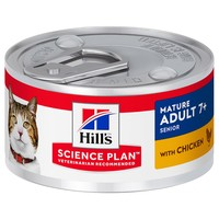 Hills Science Plan Mature Adult 7+ Cat Food Tins (Chicken) big image