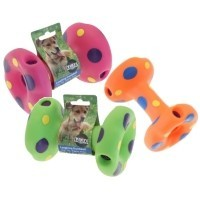 The Vinyl Collection Laughing Dumbbell Dog Toy big image