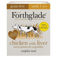 Forthglade Grain Free Complete Adult Wet Dog Food (Chicken with Liver) big image