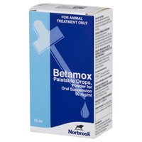 Betamox 50mg/ml Palatable Drops for Cats and Dogs 15ml big image