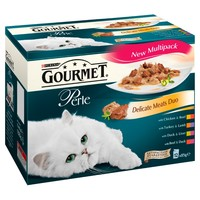 Purina Gourmet Perle Delicate Meat Duos Cat Food Variety big image