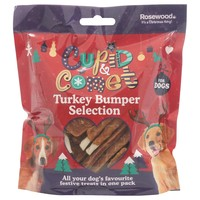 Rosewood Cupid & Comet Turkey Treats Bumper Selection Pack for Dogs 300g big image