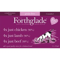 Forthglade Just Chicken/Lamb/Beef Dog Food Multipack (12 x 395g) big image