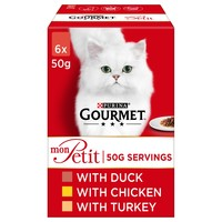 Purina Gourmet Mon Petit Wet Cat Food (Duck, Chicken & Turkey) big image