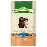 James Wellbeloved Pouches for Puppy/Junior Dogs (Turkey & Rice) big image