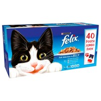 Felix Adult Cat Food in Jelly Pouches (Fish Selection) big image