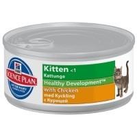 Hills Science Plan Healthy Development Kitten Food Tins 24 x 82g (Chicken) big image