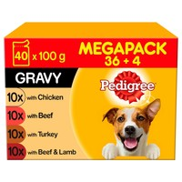 Pedigree Adult Wet Dog Food Pouches in Gravy (Mixed Selection) big image