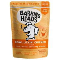 Barking Heads Adult Wet Dog Food Pouches (Bowl Lickin' Chicken) big image