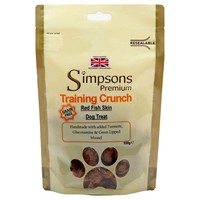 Simpsons Premium Training Crunch Red Fish Skin Dog Treats 100g big image