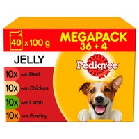 Pedigree Adult Wet Dog Food Pouches in Jelly (Mixed Selection) big image