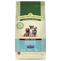 James Wellbeloved Senior Dog Small Breed Dry Food (Duck & Rice) 1.5kg big image