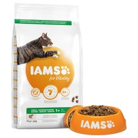 Iams for Vitality Adult Cat Food (Salmon) 3kg big image