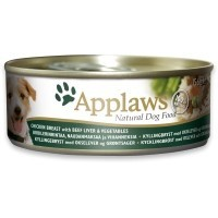 Applaws Adult Dog Food in Broth 12 x 156g Tins (Chicken with Liver & Vegetables) big image