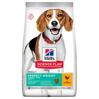 Hills Science Plan Perfect Weight Medium Dry Dog Food (Chicken) big image