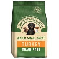 James Wellbeloved Senior Dog Grain Free Small Breed Dry Food (Turkey & Vegetables) 1.5kg big image
