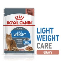 Royal Canin Light Weight Care Pouches in Gravy Adult Cat Food big image
