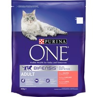 Purina One Adult Cat Food (Salmon & Whole Grains) big image