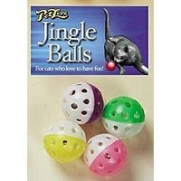 Pet Love Jingle Balls 4 Pack Cat Toy big image