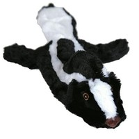 Animate Flat Friend Squeaky Dog Toy (Skunk) big image
