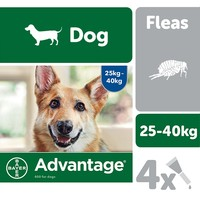 Advantage 400 Flea Treatment for Dogs 4 Pipettes big image