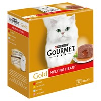 Purina Gourmet Gold Melting Heart Tins for Cats (Meat & Fish) big image