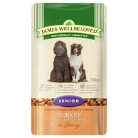 James Wellbeloved Senior Dog Wet Food Pouches (Turkey & Rice) big image
