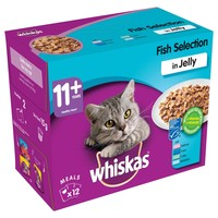 Whiskas 11+ Adult Cat Wet Food Pouches in Jelly (Fish Selection) big image