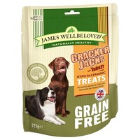 James Wellbeloved Grain Free Crackerjacks 225g (Turkey) big image