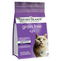 Arden Grange Grain Free Light Adult Cat Dry Food (Chicken & Potato) 2kg big image