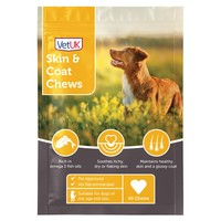 VetUK Skin and Coat Chews for Dogs (60 Chews) big image