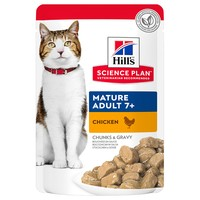 Hills Science Plan Mature Adult 7+ Cat Food Pouches (12 x 85g) big image