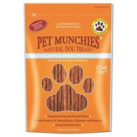 Pet Munchies Wild Salmon & Sweet Potato Treats for Dogs 90g big image