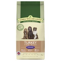 James Wellbeloved Senior Dog Dry Food (Turkey & Rice) big image