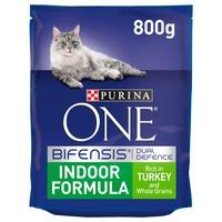 Purina ONE Indoor Formula Adult Cat Food (Turkey) 800g big image