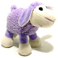 Ancol Small Bite Plush Lamb Toy (Purple) big image