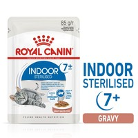 Royal Canin Indoor Sterilised 7+ Senior Cat Food Pouches in Gravy big image