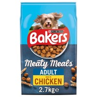 Bakers Meaty Meals Adult Dry Dog Food (Chicken) 2.7kg big image