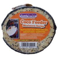Unipet Suet to Go Half Coco Feeder (Mealworm) big image