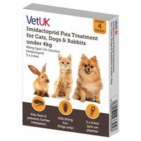 VetUK 40mg Imidacloprid Flea Treatment for Cats, Dogs and Rabbits under 4kg (3 Pipettes) big image